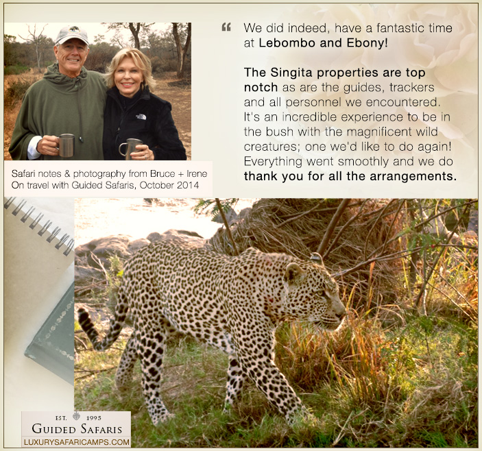 Guest stories © Guided Safaris Collection: LuxurySafariCamps.co