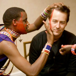 Edward Norton with Masai Wilderness Conservation Trust