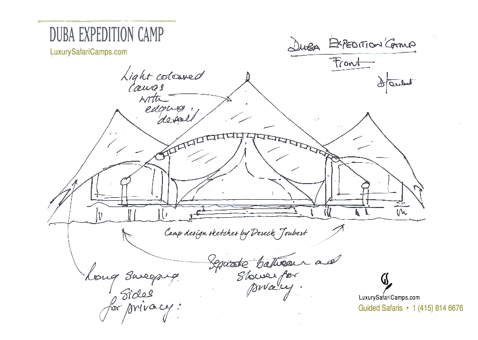Duba Plains Expedition Camp Layout