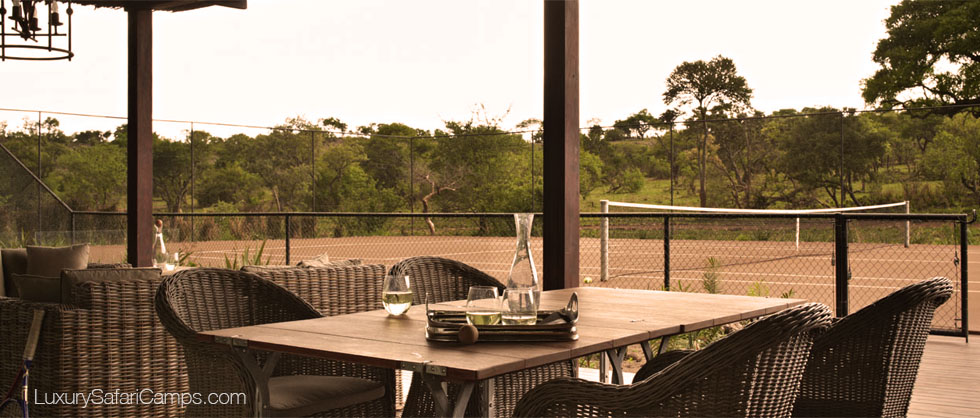Tennis at Singita Serengeti House