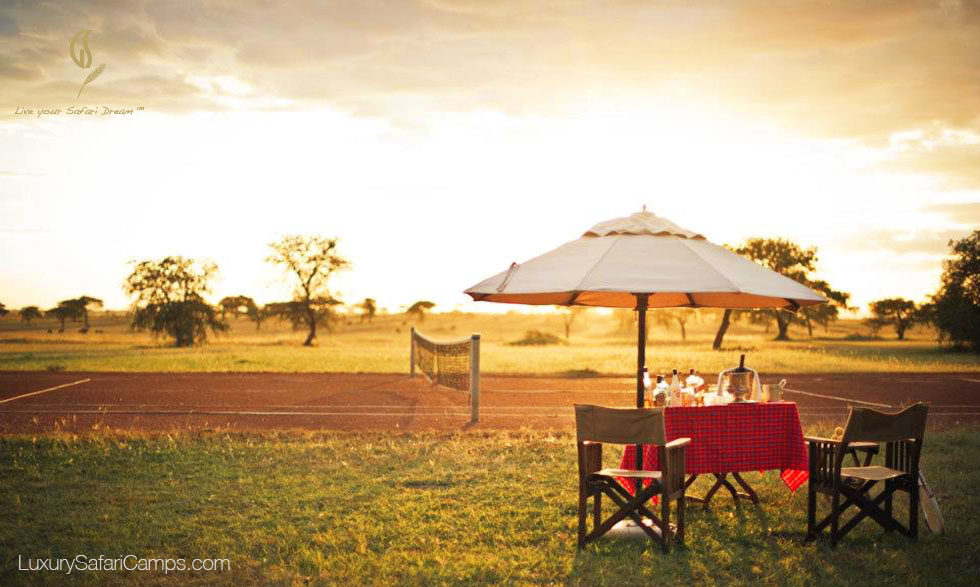 Tennis at Singita Sabora Camp