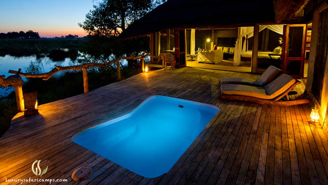 Singita Castleton House at night
