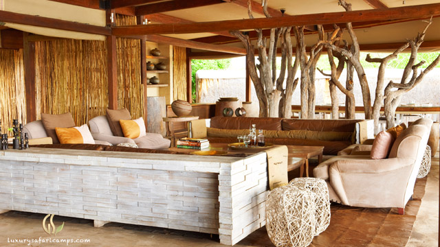 Dining room at Singita Castleton House