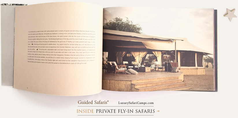 Private Fly-In Safaris - Singita Explore Mobile Camp