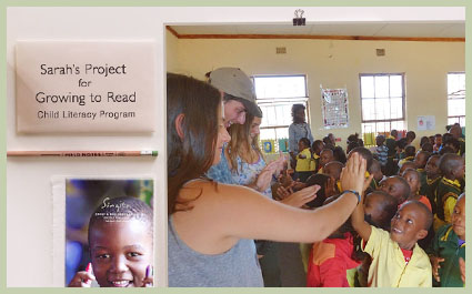 Sarah's School Fundraising Project The Goldman family's gift of education to the school children in Sabi Sands, as part of their first-time safari to Africa with Guided Safaris®